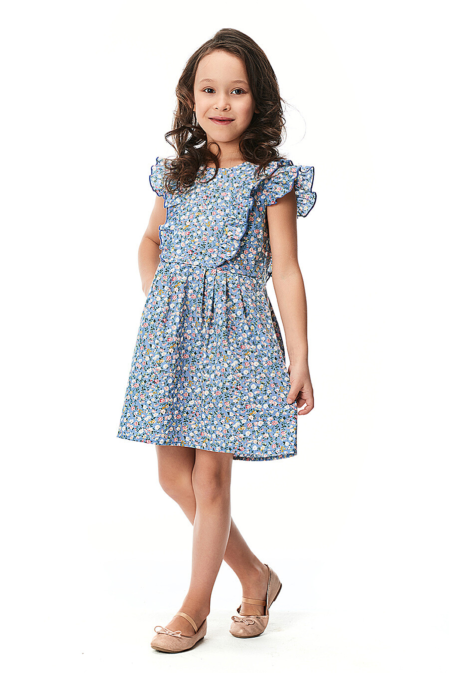 Платье для девочек LUCKY CHILD 184434 купить оптом от производителя. Совместная покупка детской одежды в OptMoyo