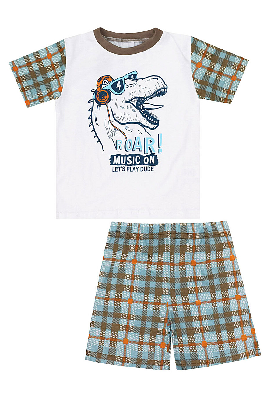 Пижама (Футболка+Шорты) для мальчиков КОТМАРКОТ 184626 купить оптом от производителя. Совместная покупка детской одежды в OptMoyo