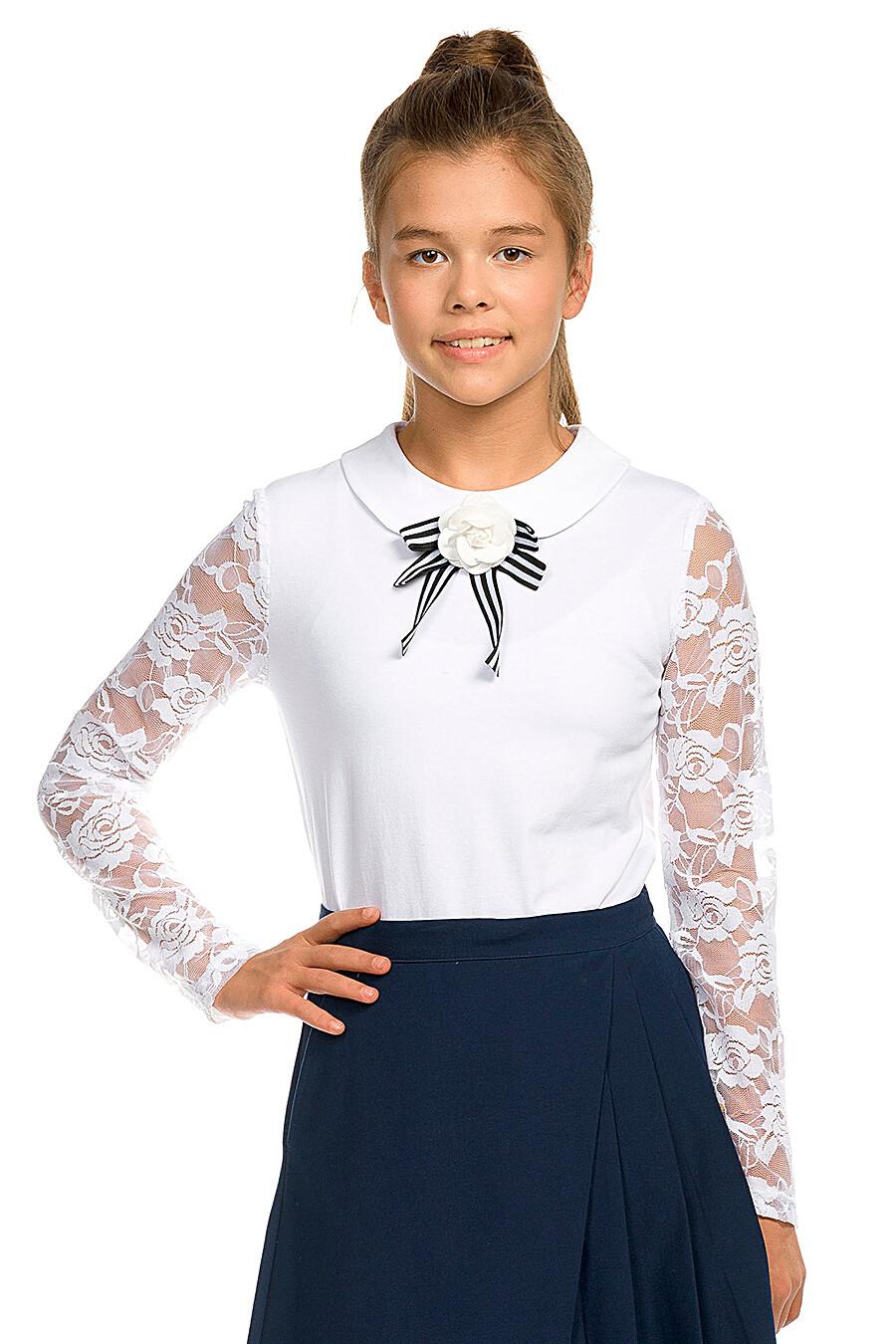 Блузка для девочек PELICAN 218543 купить оптом от производителя. Совместная покупка детской одежды в OptMoyo