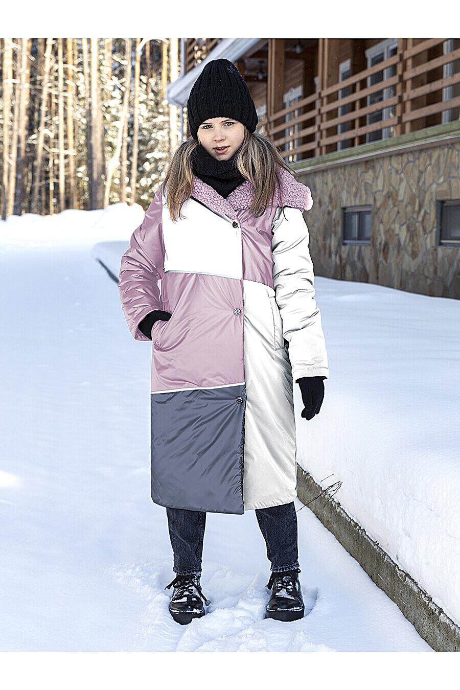Пальто 6з5021 пудровый/серебро NIKASTYLE (289016), купить в Moyo.moda
