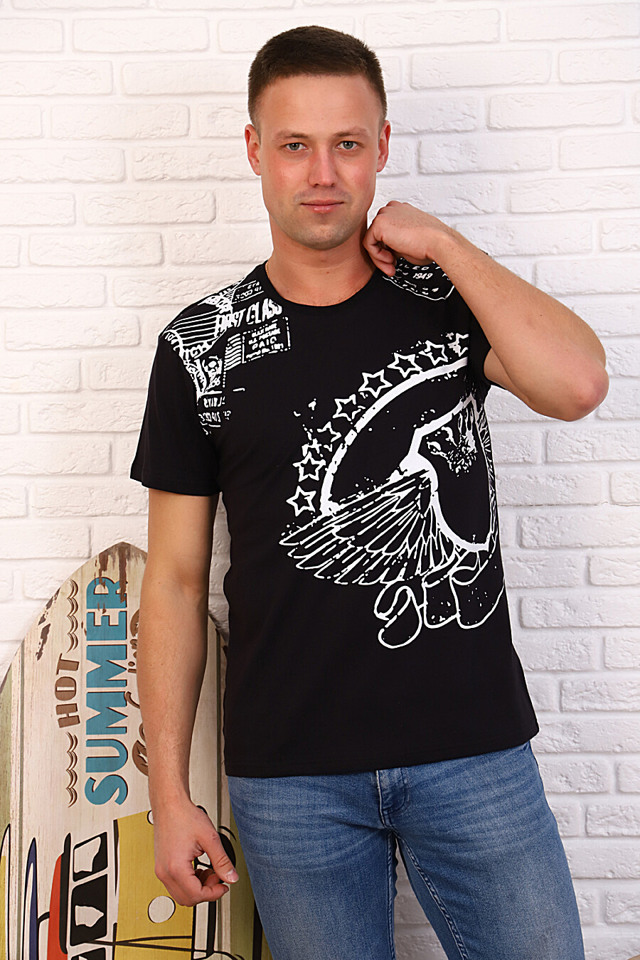 Футболка 34504 для мужчин НАТАЛИ 334799 купить оптом от производителя. Совместная покупка мужской одежды в OptMoyo