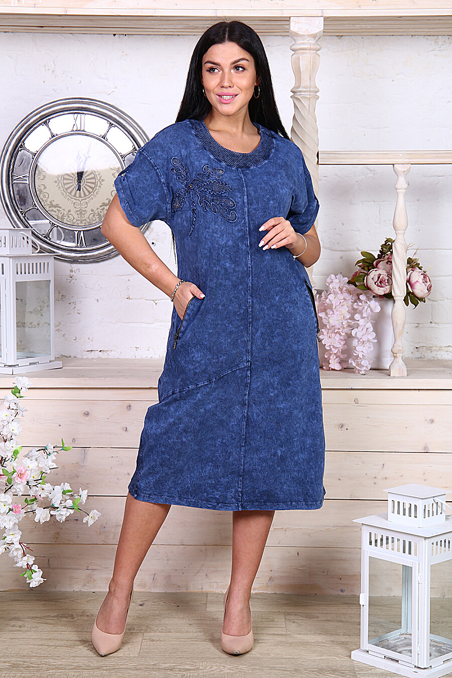 Платье 22171 для женщин НАТАЛИ 348416 купить оптом от производителя. Совместная покупка женской одежды в OptMoyo