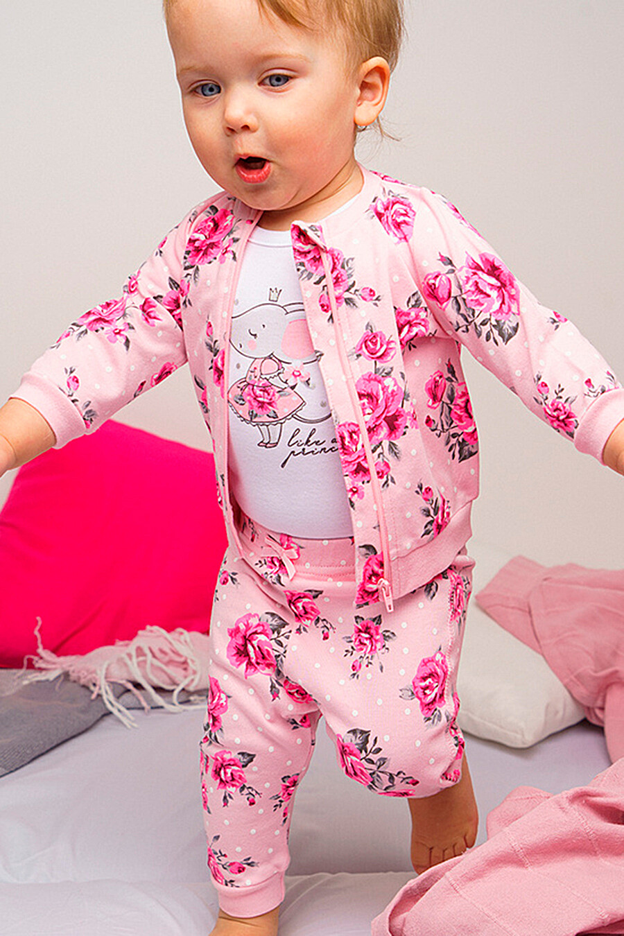 Комплект (Боди+Кофточка+Ползунки) для девочек PLAYTODAY 649451 купить оптом от производителя. Совместная покупка детской одежды в OptMoyo