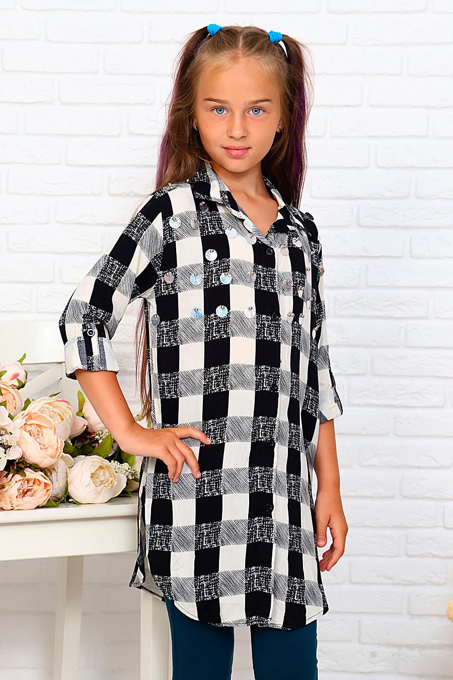 Туника-рубашка для девочек SOFIYA37 667886 купить оптом от производителя. Совместная покупка детской одежды в OptMoyo