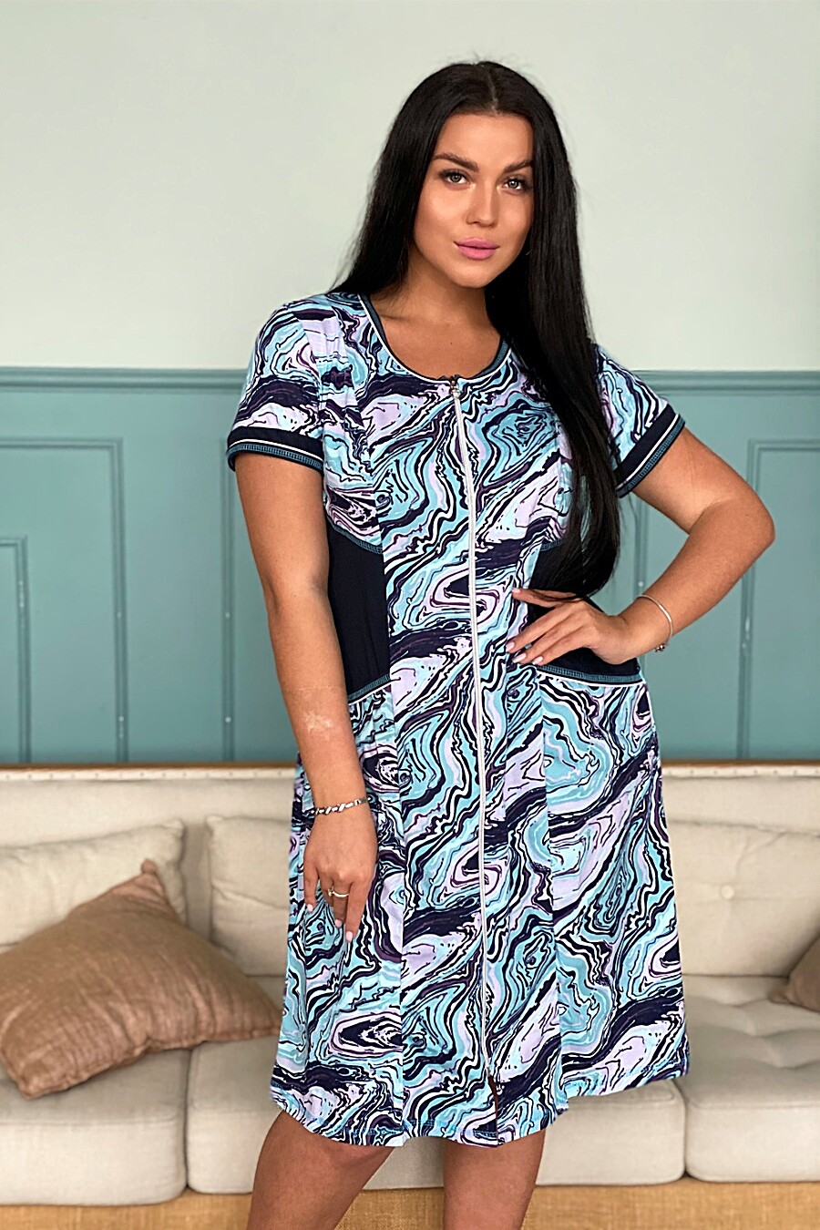 Халат 9028 для женщин НАТАЛИ 682127 купить оптом от производителя. Совместная покупка женской одежды в OptMoyo