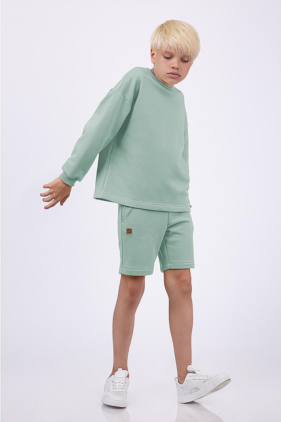 Костюм(Свитшот + Шорты) для мальчиков EZANNA 682406 купить оптом от производителя. Совместная покупка детской одежды в OptMoyo