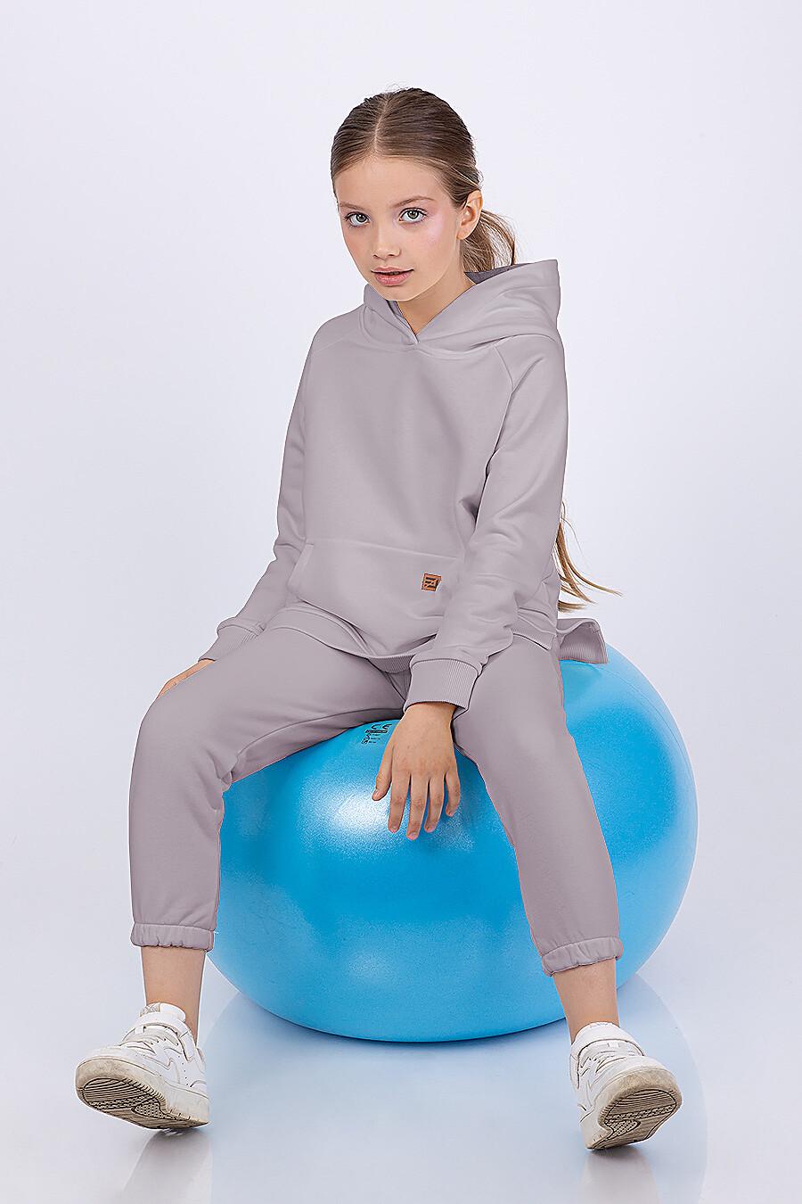 Костюм(Худи+Брюки) для девочек EZANNA 682427 купить оптом от производителя. Совместная покупка детской одежды в OptMoyo