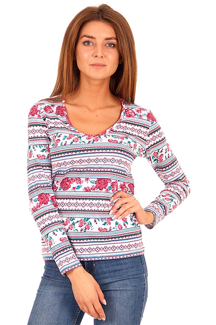 Лонгслив  для женщин АПРЕЛЬ 700646 купить оптом от производителя. Совместная покупка женской одежды в OptMoyo