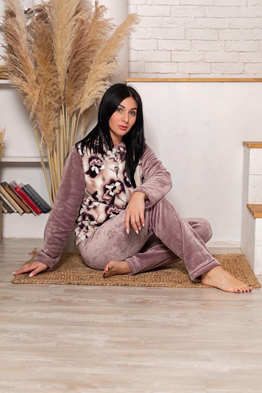 Костюм (толстовка+брюки) для женщин SOFIYA37 708047 купить оптом от производителя. Совместная покупка женской одежды в OptMoyo