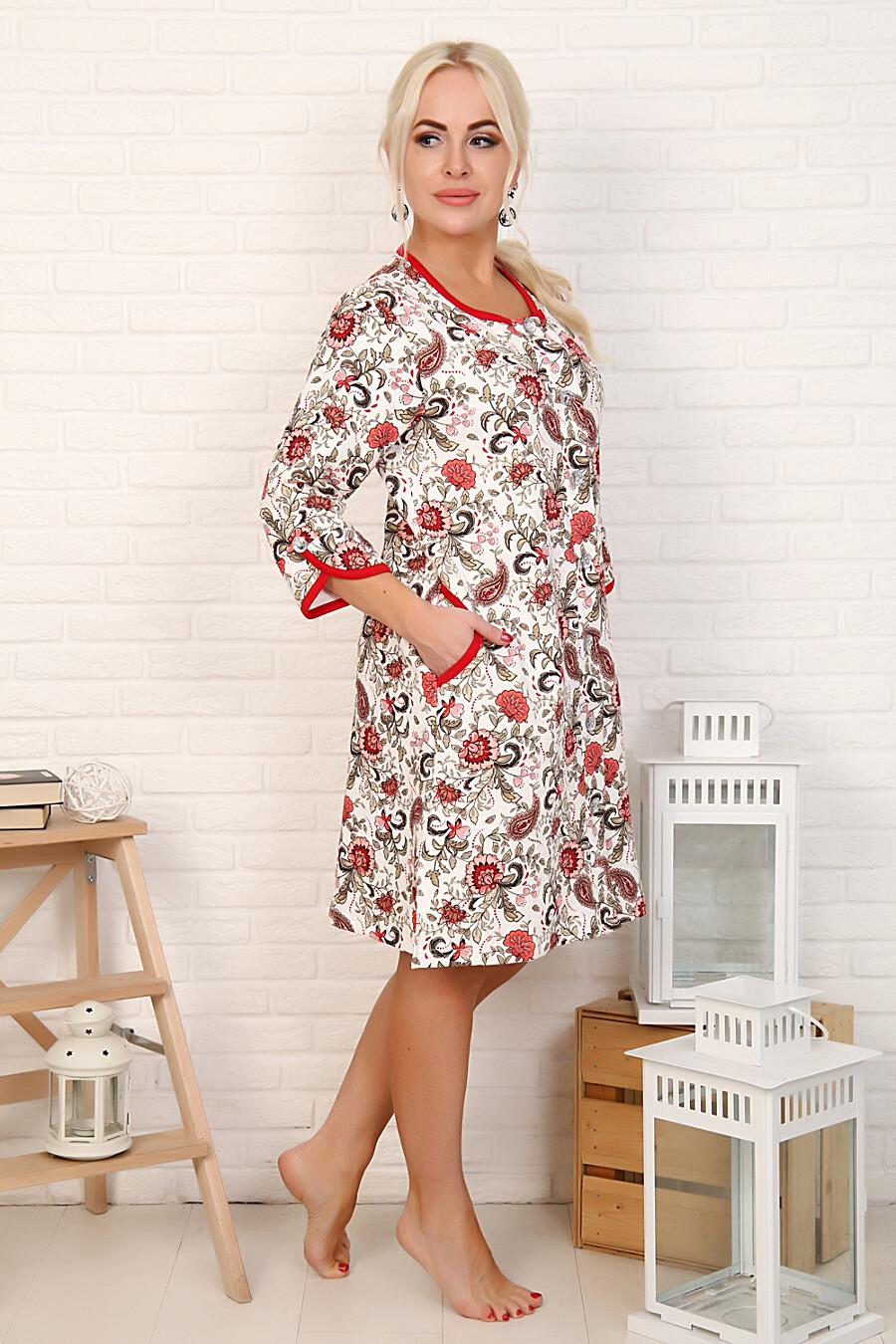 Халат 16528 для женщин НАТАЛИ 708425 купить оптом от производителя. Совместная покупка женской одежды в OptMoyo