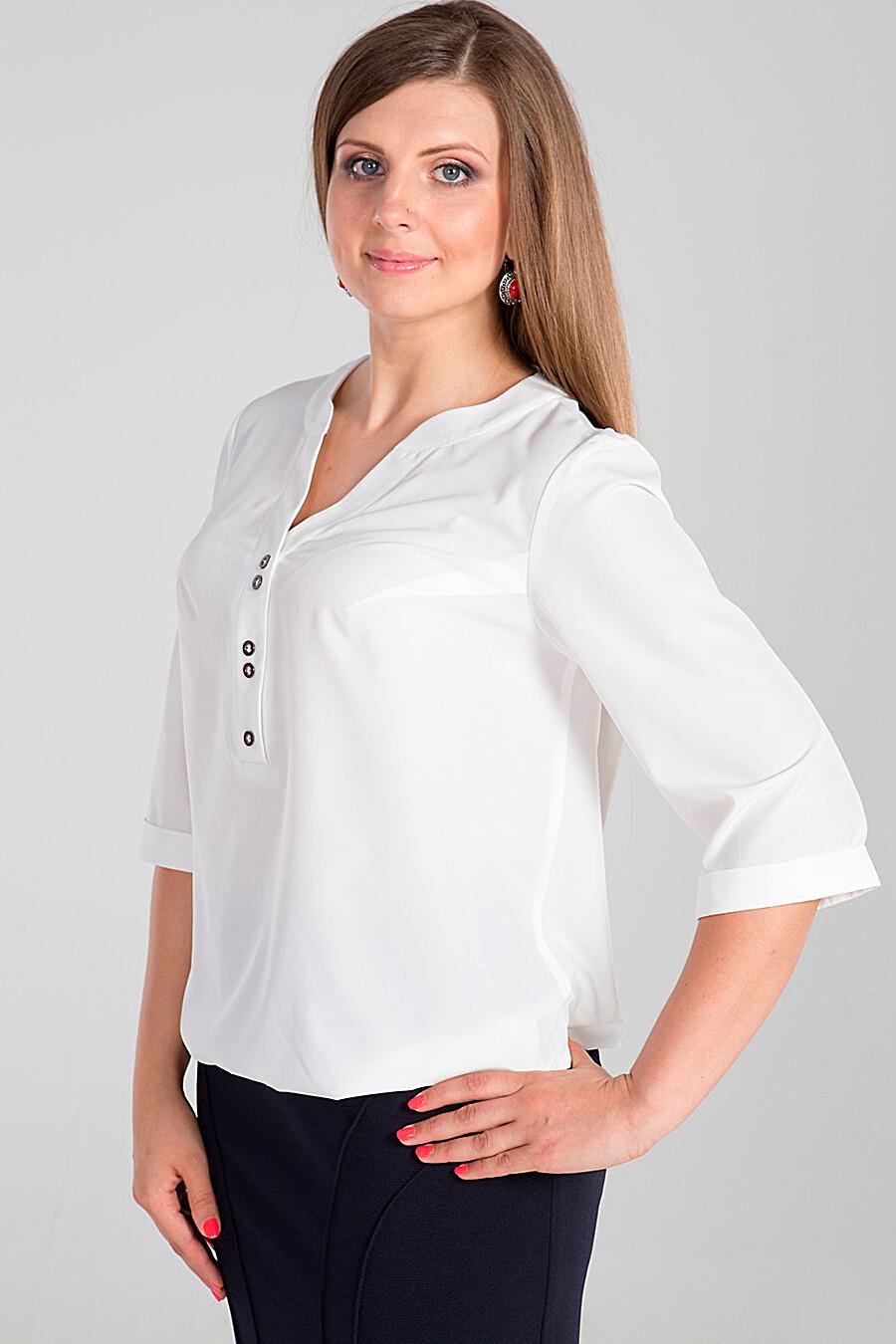 белая офисная блузка купить